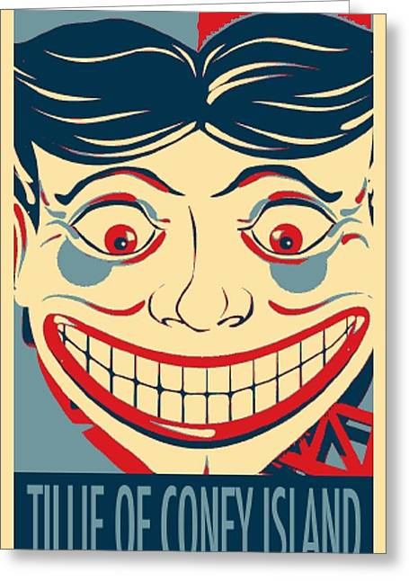 Shepard Fairey Greeting Cards - TILLIE OF CONEY ISLAND in HOPE Greeting Card by Rob Hans