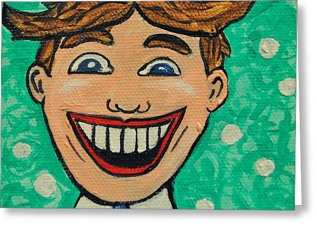 Asbury Park Paintings Greeting Cards - Tillies Surprise Greeting Card by Patricia Arroyo