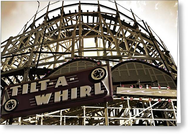 Tilt-a-whirl Greeting Card by Larry Butterworth