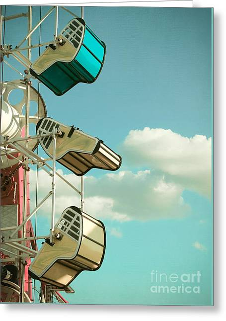 Tilt And Twirl Greeting Card by Colleen Kammerer