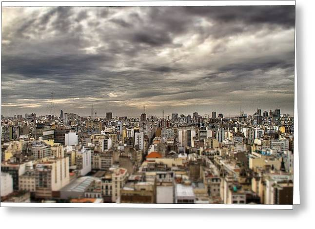 Buenos Aires Gifts Greeting Cards - Tilt Shift Buenos Aires Panorama Greeting Card by For Ninety One Days