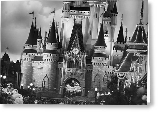 Amusements Greeting Cards - Tilted Centerpiece - BW Greeting Card by Nicholas Evans