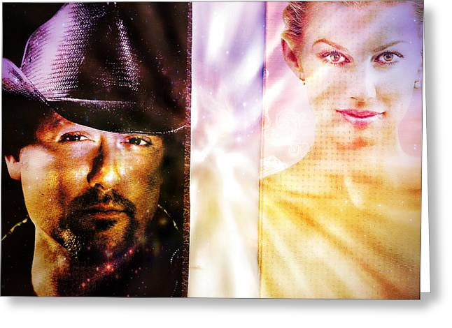 Tim Mixed Media Greeting Cards - Tim and Faith Countrys Diamond Duo Greeting Card by M and L Creations