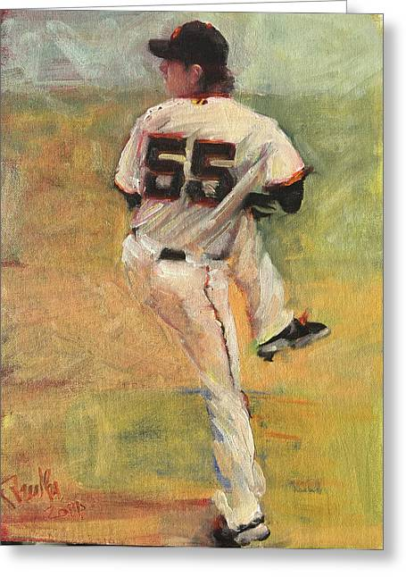 Baseball Paintings Greeting Cards - Another no no Greeting Card by Darren Kerr