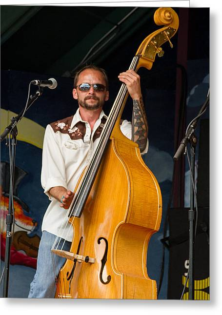Blissfest Greeting Cards - Tim McKay of Fauxgrass Greeting Card by Bill Gallagher