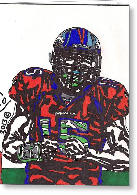 Tebow Greeting Cards - Tim Tebow 4 Greeting Card by Jeremiah Colley
