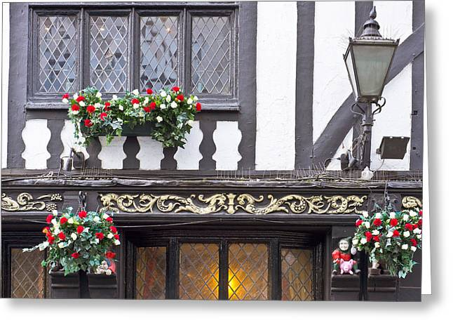 Half-timbered Greeting Cards - Timber building Greeting Card by Tom Gowanlock