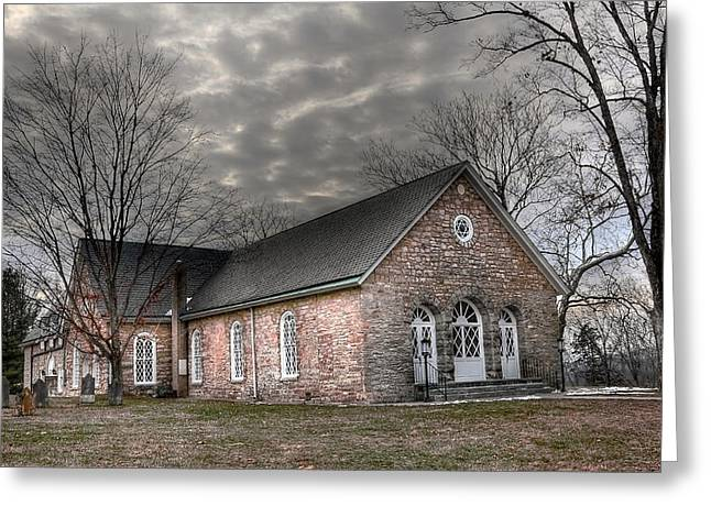 Timber Posts Greeting Cards - Timber Ridge Presbyterian Church Greeting Card by Todd Hostetter