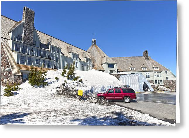 Timberline Greeting Cards - Timberline lodge Mt Hood Oregon. Greeting Card by Gino Rigucci