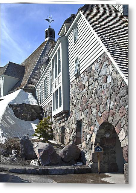 Timberline Greeting Cards - Timberline lodge on Mt. Hood Oregon. Greeting Card by Gino Rigucci