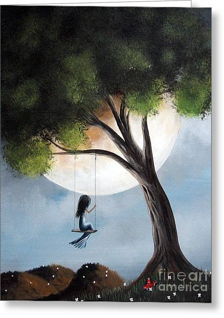 Mystical Landscape Greeting Cards - Time Alone by Shawna Erback Greeting Card by Shawna Erback