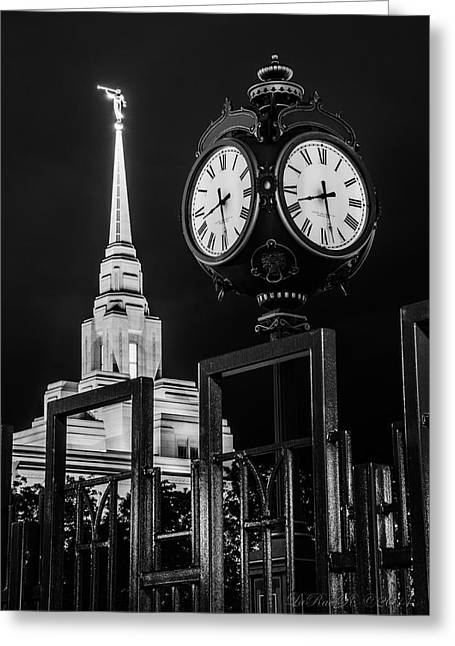 Mormon Temple Photography Greeting Cards - Time And All Eternity Ogden Temple Greeting Card by La Rae  Roberts