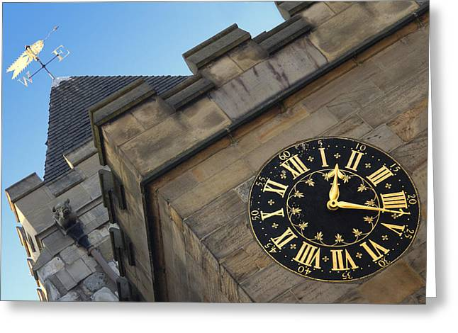 Clock Greeting Cards - Time and Direction Greeting Card by Mike McGlothlen