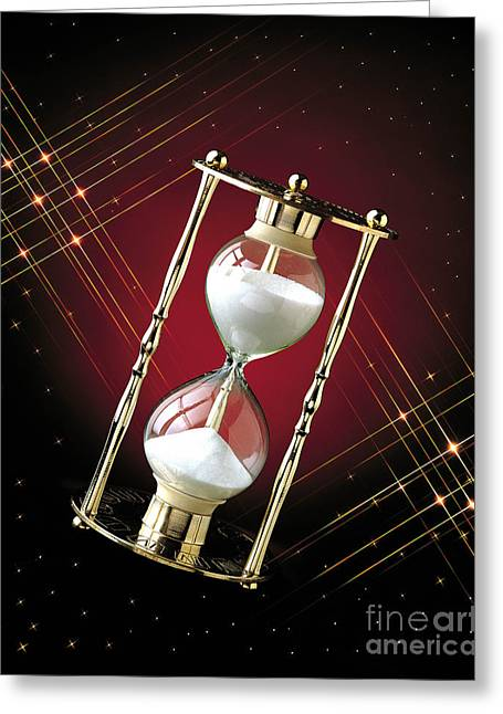 Sand Art Greeting Cards - Time and Space Greeting Card by Gary Gingrich Galleries