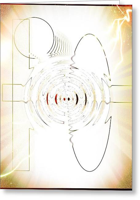 Ripple Space Time Greeting Cards - Time and space Greeting Card by Peter Conde
