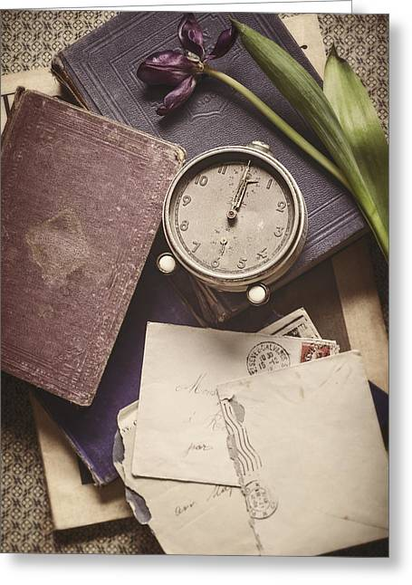 Tattered Greeting Cards - Time and Treasures Greeting Card by Amy Weiss