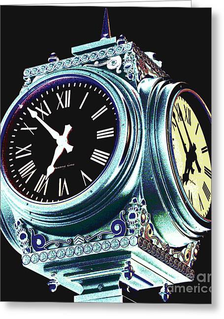 Time Greeting Card by Colleen Kammerer