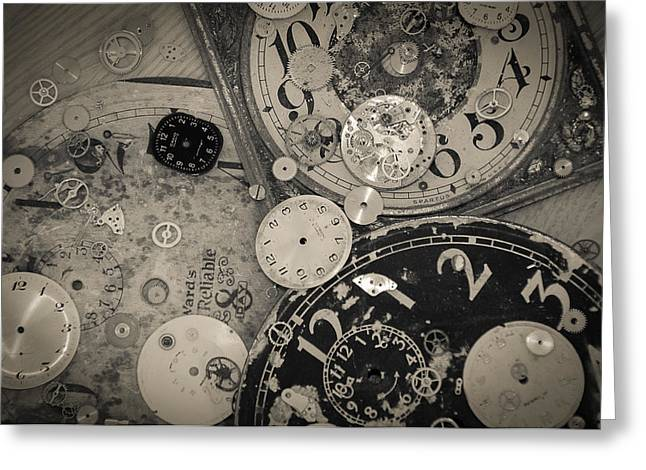 Time Greeting Card by David Pinsent