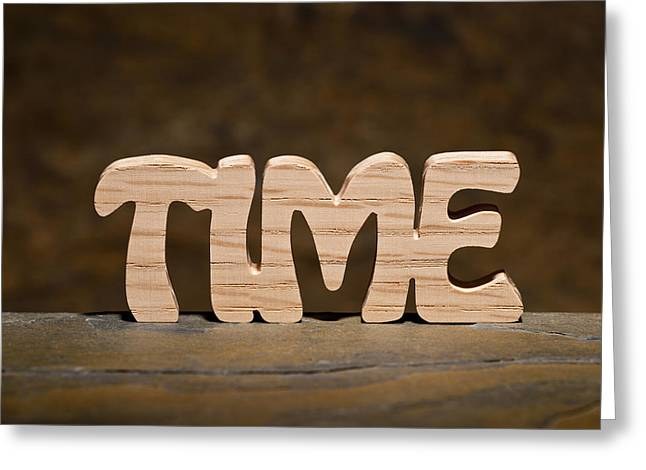 Time Greeting Card by Donald  Erickson