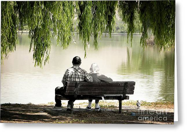 Recently Sold -  - Willow Lake Greeting Cards - Time Flies By Greeting Card by Ellen Cotton