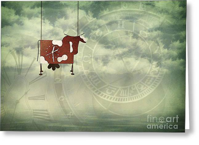 Time Flies Greeting Card by Jutta Maria Pusl