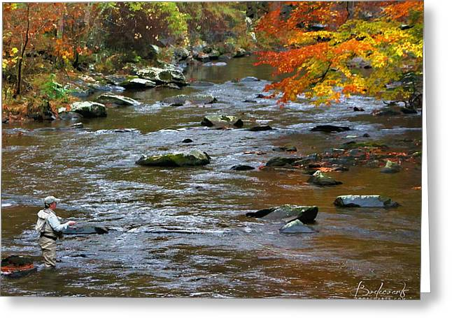 Fishing Creek Mixed Media Greeting Cards - Time Flies Greeting Card by Robin Lewis