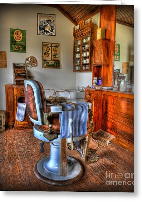 Scissors Greeting Cards - Time for a Cut And Shave - Barber  Greeting Card by Lee Dos Santos