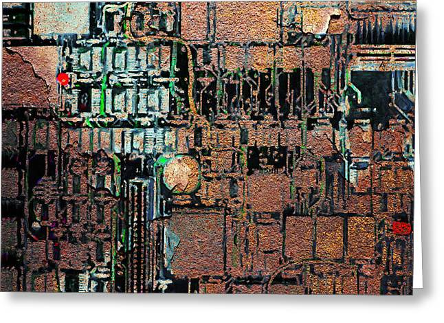 Silicon Valley Art Greeting Cards - Time For A Motherboard Upgrade 20130716 square Greeting Card by Wingsdomain Art and Photography