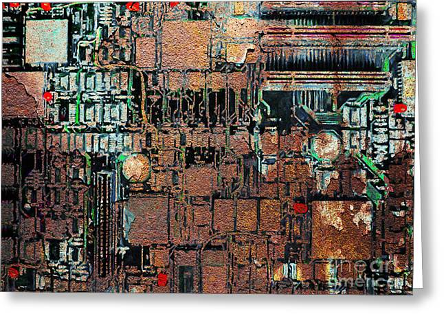 Silicon Valley Art Greeting Cards - Time For A Motherboard Upgrade 20130716 Greeting Card by Wingsdomain Art and Photography