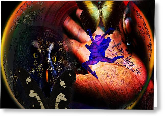 Renewing Digital Art Greeting Cards - Time for Change Greeting Card by Joseph Mosley