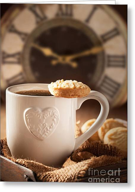Coffee Table Greeting Cards - Time For Coffee Greeting Card by Amanda And Christopher Elwell