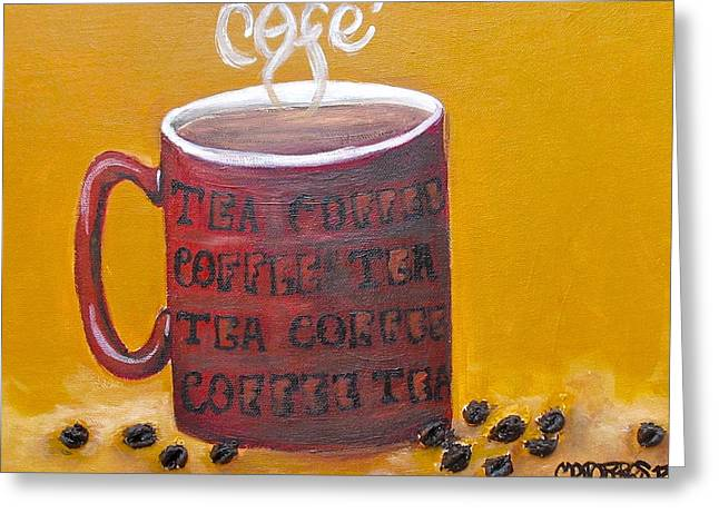 Time For Coffee Greeting Card by Melissa Torres