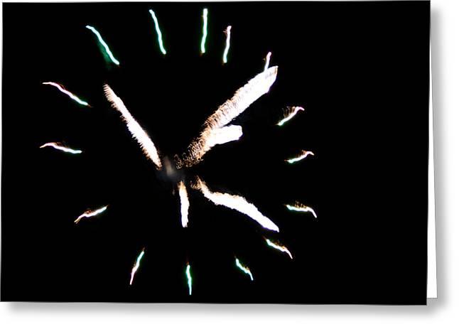Time For Fireworks Greeting Card by Jeffrey J Nagy