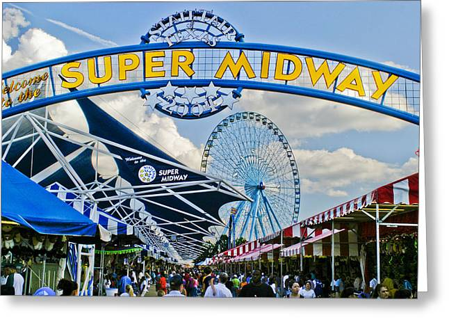 State Fairs Greeting Cards - Fun on the Midway Greeting Card by David and Carol Kelly