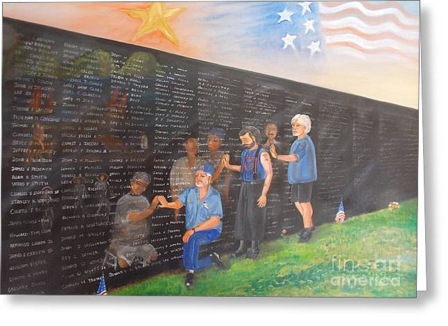 Vietnamwall Greeting Cards - Time For Healing Greeting Card by To-Tam Gerwe