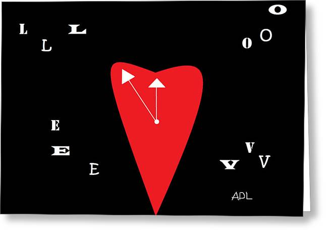 Love Letter Drawings Greeting Cards - Time For Love Greeting Card by Anita Dale Livaditis