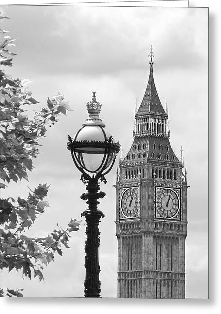 Large Clock Greeting Cards - Time for Lunch Greeting Card by Gill Billington