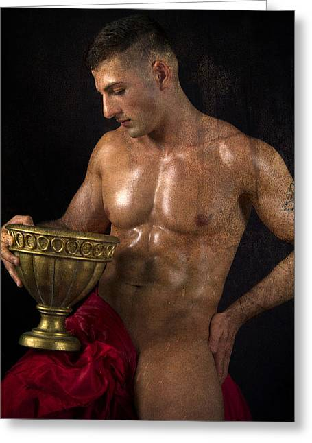 Hot Male Greeting Cards - Time For Peace Greeting Card by Mark Ashkenazi