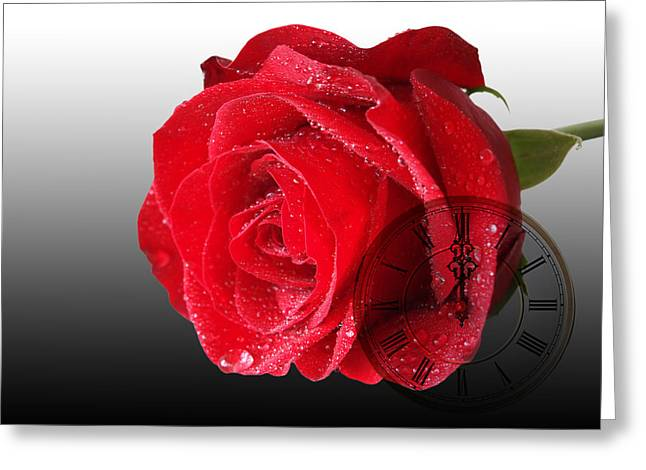 Soft Clocks Greeting Cards - Time For Romance Greeting Card by Gill Billington