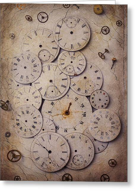 Best Sellers -  - Mechanism Photographs Greeting Cards - Time Forgotten Greeting Card by Garry Gay