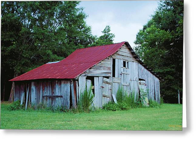 Red Roofed Barn Greeting Cards - Time Forgotten  Greeting Card by Karry Degruise