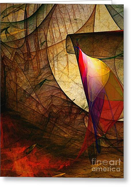 Abstract Expressionist Greeting Cards - Time Fuse-Abstract Art  Greeting Card by Karin Kuhlmann