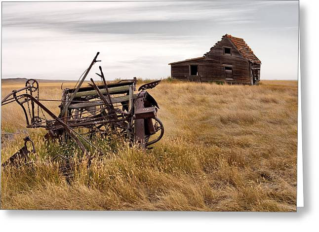 Old Cabins Greeting Cards - Time Gone By Greeting Card by Leland D Howard