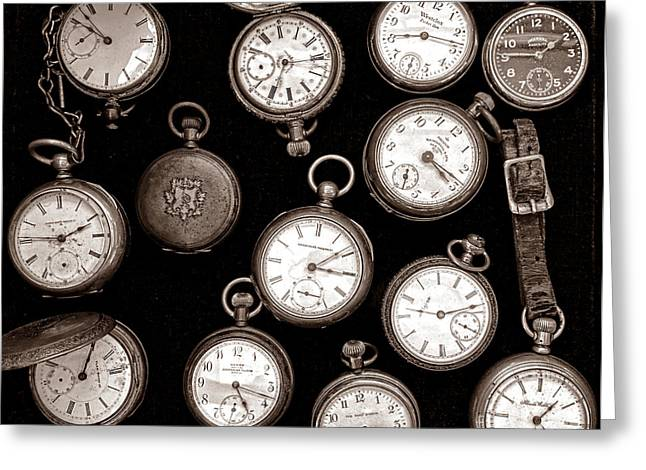 Pocket Watch Greeting Cards - Time Gone Greeting Card by Olivier Le Queinec