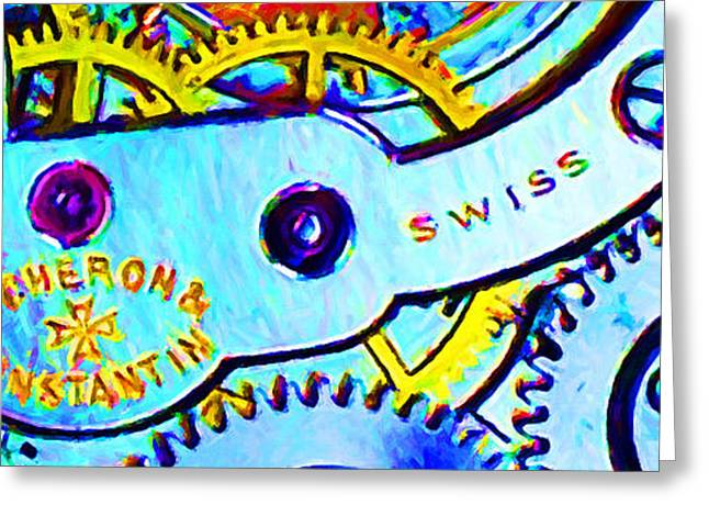 Time In Abstract 20130605 Long Greeting Card by Wingsdomain Art and Photography