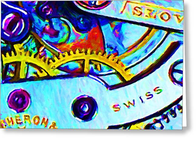 Time In Abstract 20130605 Greeting Card by Wingsdomain Art and Photography