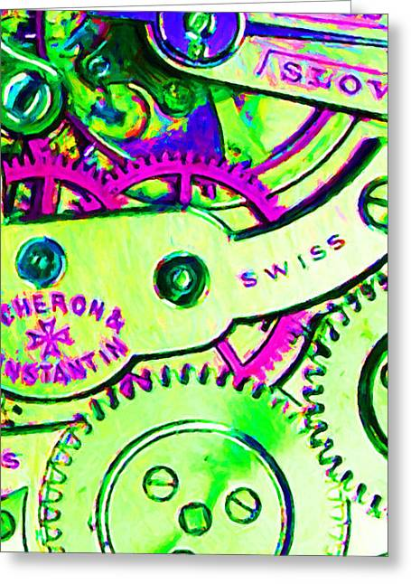 Time In Abstract 20130605m108 Long Greeting Card by Wingsdomain Art and Photography