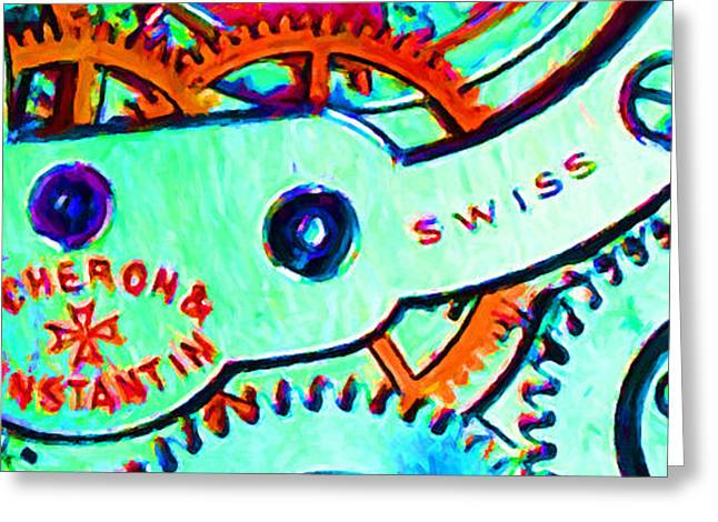 Time In Abstract 20130605m36 Long Greeting Card by Wingsdomain Art and Photography