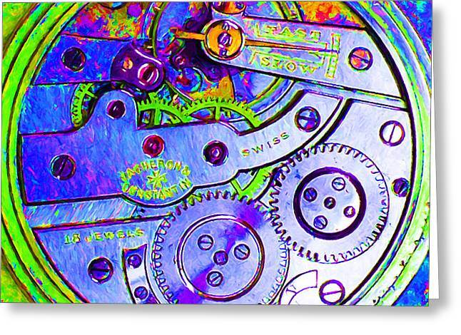 Time In Abstract 20130605m36 Square Greeting Card by Wingsdomain Art and Photography