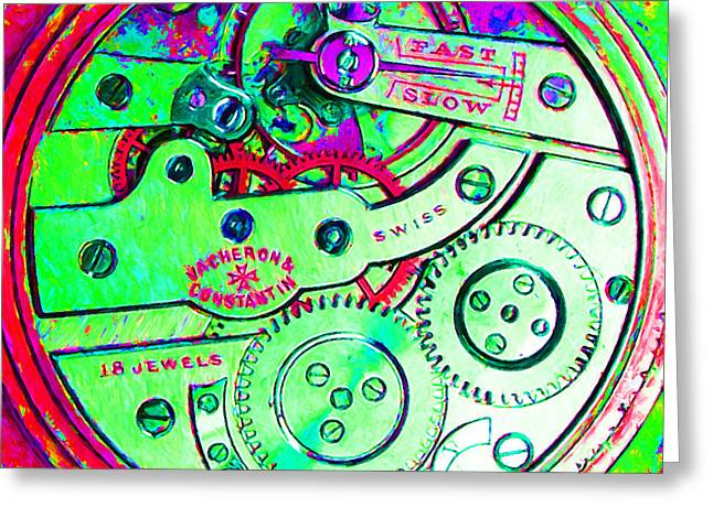 Time In Abstract 20130605m72 Square Greeting Card by Wingsdomain Art and Photography